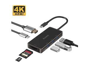 USB C Hub USBC 31 Thunderbolt 3 Multiport Adapter with 4K HDMI Type C Power Delivery Charging Port USB 30 Ports SDTF Card Reader for MacBook iPad Pro Mac Mini XPS 13 Laptop