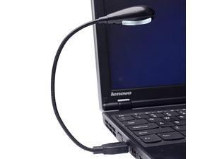 Bright LED USB Lamp Light Reading Lamp for Laptop Flexible Neck Black