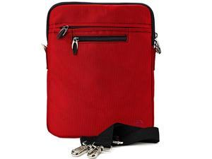Slim Red Cross Body Tablet Carrying Case Bag for Apple iPad 97inch iPad Pro Air 105inch 11inch iPad Pro