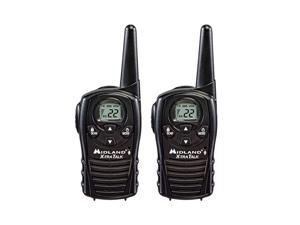 LXT118 FRS Walkie Talkies with Channel Scan Extended Range Two Way Radios HandsFree VOX Pair Pack Black
