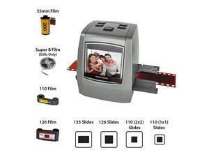 AllinOne High Resolution 22MP Film Scanner Converts 35mm126KPK110Super 8 Films Slides Negatives into Digital Photos Vibrant 24quot LCD Screen Impressive 128MB Builtin Memory