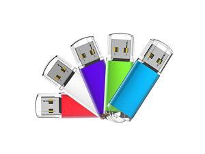5 Pack 64GB Flash Drive USB Flash Drive 64 GB USB 20 Thumb Drive USB Drives 64GB 5 Mixed Colors Silver Red Blue Green Purple