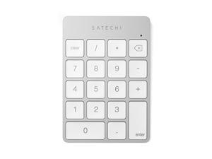 Slim Aluminum Bluetooth Wireless 18Key Keypad Keyboard Extension Compatible with 2017 iMac iMac Pro MacBook Pro MacBook iPad iPhone Dell Lenovo and More Silver