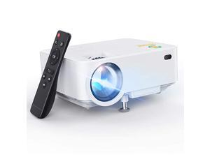 Mini Projector  Upgraded 3000L Portable LCD Video Projector with 1080P Supported and Builtin Speakers Multimedia Home Theater Small Projector Compatible with HDMI USB AV DVD VGA Laptop