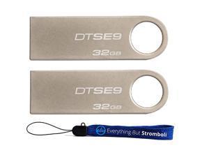 TM Digital DataTraveler SE9 32GB USB 20 DTSE9H32GB 32GB 2 pack Flash Drive Pen Drive w 1 Everything But Stromboli TM Lanyard