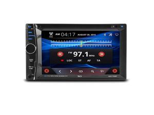 62quot Car Stereo Receiver | Double DIN Digital LCD Touchscreen System Bluetooth DVD Player | Wireless Remote Control With Rear View Camera