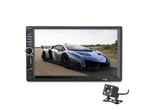 Din 7018B General Car Models 7 inch LCD Touch Screen Car Radio Player Bluetooth Car Audio+ Rear View Camera NO DVD