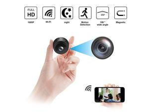 Spy Camera 1080P Hidden Camera Wireless WiFi Security Cam with Night Vision Motion Detection Audio Record with Phone App for Car Home Office and Indoor