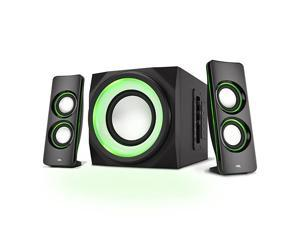 Bluetooth Speakers with LED Lights The Perfect Gaming Movie Party Multimedia 21 Subwoofer Speaker System CASP34BT