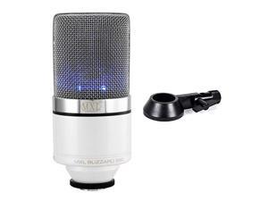 Mics 990 Blizzard Condenser Microphone with Blue LED Lights for Podcasting Voice Overs Studio Recordings