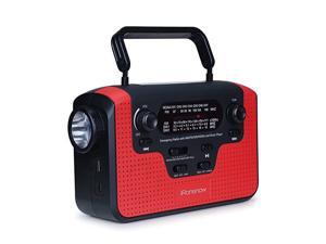Real NOAA Alert Weather Radio with Alarm,  IS-388 Solar Hand Crank Emergency AM/FM/SW/WB Radio, TF Card Speaker, LED Flashlight & Reading Camping Lamp, 2300mAh Cell Phone Charger