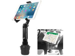 Cup Holder Tablet Mount, Tablet Car Cradle Holder Made by  Compatible for 2021 iPad Pro New Air iPad Mini Samsung Galaxy Tab S7 S6 Lite S5e A7  Fire 7 HD 10 9 Microsoft Surface Go2 etc.