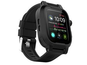 Apple Watch Case 44mm Series 5 amp 4 with Premium Bands Builtin Screen Protector Full Body Rugged iWatch Protective Case AntiScratch Drop Shock Proof Apple Watch Case 44mm