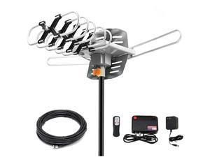 Digital Antenna 150 Miles Range w 360 Degree Rotation Wireless Remote UHFVHF1080p 4K ReadyWithout Pole