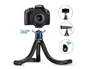 Phone Tripod Flexible Tripod with Wireless Remote Shutter Compatible with iPhoneAndroid Samsung Mini Tripod Stand Holder for Camera GoProMobile Cell Phone