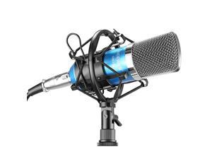 NW700 Studio Condenser Microphone Set Including NW700 Condenser Microphone Metal Microphone Shock Mount Balltype Foam Cap Audio Cable for Broadcasting Voice Recording