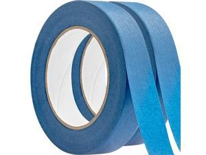 1 Inch, 60 Yard Blue Painters Tape 2 Pk. Easy-Tear, Pro-Grade Removable Masking Tape Great for Home, Office or Commercial Contractor. Clean, Drip-Free Painting with Wide Crepe Paper Rolls