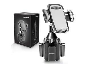 Car Cup Holder Phone Mount Adjustable Automobile Cup Holder Smart Phone Cradle Car Mount for iPhone 11 Pro/XR/XS Max/X/8/7 Plus/6s/Samsung S10+/Note 9/S8 Plus/S7 Edge(Grey)