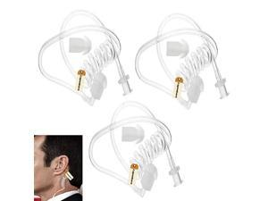 Replacement Coil Tube White Twist On Replacement Covert Acoustic Audio Tube with Earbuds Eartips for Two Way Radio Earpiece Headset Earphone Kit Pack of 3 by