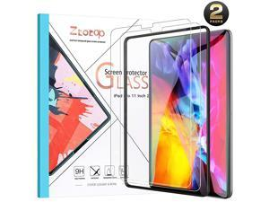 Screen Protector for iPad Pro 11-Inch 2021 & 2020 / iPad Air 4th Gen 2020, [2 Pack] Face ID and iPad Pencil Compatible, 9H Tempered Glass Film