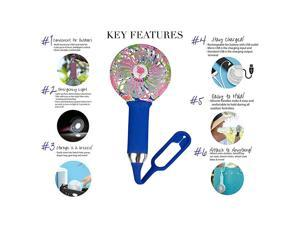 Handheld Mini Fan Portable - USB Rechargeable Battery Operated for Stroller Bike Beach Travel Desk Office Makeup Turbo Cool Indoor Outdoor Air