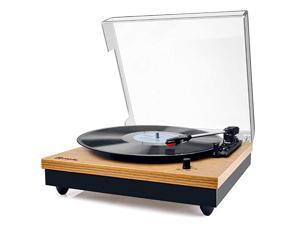 Record Player  Vintage Turntable 3Speed Bluetooth Record Player with Speaker Portable LP Vinyl Player RCA Jack Natural Wood
