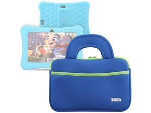 7 Tablet Sleeve Bag Compatible for Dragon Touch Y88X ProY88XM7 Kids Tablet MatrixPad S7 Z1 Kids Tablet iPad Mini 4 3 2 1 Galaxy Tab A 80 with Accessory Pocket Blue