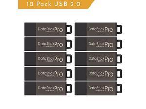 DSP8GB10PK 10 x 8GB MultiPack DataStick Pro USB 20 Flash Drives Grey