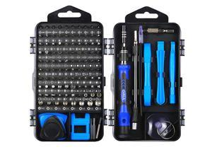 Precision Screwdriver Set 120 in 1 Screwdriver Kit with 101 Bits Mini Magnetic Screwdriver Set Computer Repair Tool Kit for iPhone PC Toys Computer