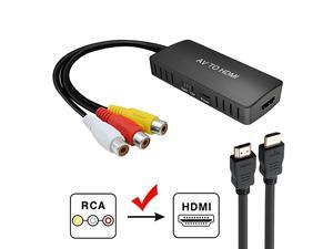 to HDMI Converter, PS2 HDMI Adapter, AV to HDMI Adapter Support 1080P, PAL/NTSC Compatible with WII, WII U, PS one, PS2, PS3, STB, Xbox, VHS, VCR, Blue-Ray DVD Players