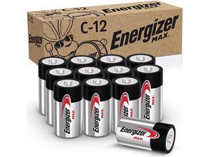 Max C Batteries Premium Alkaline C Cell Batteries 12 Battery Count