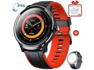 Smart Watch for Android iOS Phones Smartwatch with 13 Full Touch Screen Fitness Tracker with Heart Rate Monitor IP68 Daily Waterproof Sport for Men and Women
