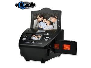 Photo Slide Film Scanner with Popular Scanner 24 inch 81 Mega Pixels 4 in 1 Photo and Film Scanner 135 Negative Scanner Photo Scanner Combo Scanner Views on Your Computer or USBBlack