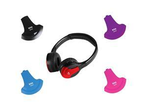 HP34C Dual Channel Foldable Wireless Headphone Interchangeable Color Accent Caps