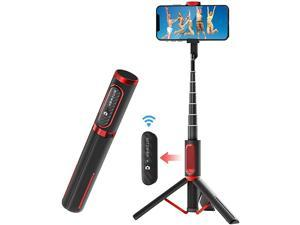Selfie Stick Tripod  Lightweight Aluminum All in One Extendable Phone Tripod Selfie Stick Bluetooth with Remote for iPhone 11 ProXS MAXXSXRX8 Plus7 Plus6S Galaxy S10S9S9 Plus More
