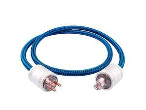 JIB  Blueberry Series 4N OFC Power Cord Male to Female Power CableUS Plug for Subwoofer Amplifier DVAV 32ft1M