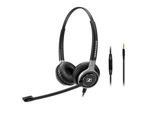 SC 665 (507256) - Double-Sided Business Headset | For Mobile Phone and Tablet Connection | with HD Sound & Ultra Noise-Cancelling Microphone (Black)