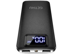 Portable Charger LED Display 10000mAh Power Bank 48A 2 USB Ports HighSpeed Battery Pack with Flashlight for iPhone 11 Pro X 8 7 6S Plus Samsung Galaxy S20 S10 Note 10 Google LG Oneplus iPad