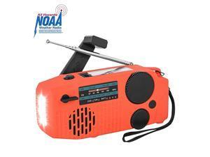 Emergency Hand Crank Radio Solar Powerd AMFMSWNOAA Weather Radio Bulitin USB 2000mAh Power Bank Phone Charger SOS AlarmLED Flashlight for Household and Outdoor Emergency