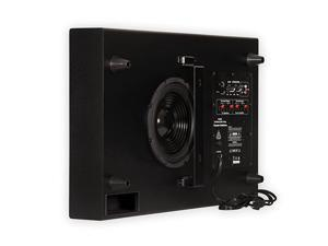 SUB8S 250 Watt Surround Sound HD Home Slim Powered Active Subwoofer Black