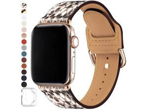 Bands Compatible with Apple Watch Band 38mm 40mm 42mm 44mm Top Grain Leather Smart Watch Strap Compatible for Men Women iWatch Series 5 4 3 2 1 Snake PrintGold 42mm44mm