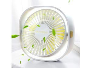 Small Personal USB Desk Fan3 Speeds Portable Desktop Table Cooling Fan Powered by USBStrong WindQuiet Operationfor Home Office Car Outdoor Travel Natural White