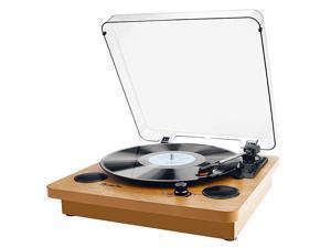Record Player  3Speed Turntable Bluetooth Vinyl Record Player with Speaker Portable LP Vinyl Player VinyltoMP3 Recording 35mm AUX amp RCA amp Headphone Jack