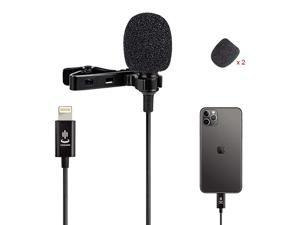 Lavalier Lapel Microphone Omnidirectional Condenser Mic for iPhone 77 plus88 plus1111 Pro11 Pro Max iPhone XXSXR YouTube Vlogging Facebook Interview Livestream Video Recording