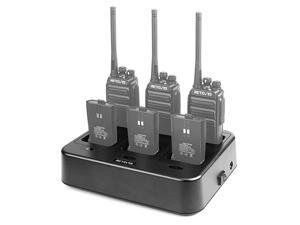 RT21 SixWay Multi Unit Rapid Gang Charger for  RT21 RT28 RT53 H777S not for H777 Walkie Talkie and Batteries 1 Pack