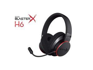 BlasterX H6 USB Gaming Headset with 7.1 Virtual Surround , Memory Foam Fabric Earpads, Hardware EQ Modes, Ambient Monitoring and RGB Lighting for PS4, Xbox One, Nintendo Switch, and PC