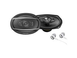 TSA6990F A Series 6quotX9quot 700 Watts Max 5Way Car Speakers Pair with Carbon and Mica Reinforced Injection Molded Polypropylene IMPP Cone Construction wFree ALPHASONIK Earbuds