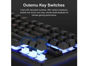 2in1 Rainbow LED Mechanical Gaming Keyboard and Mouse Combo Set MultiColored Backlight for PS4 Xbox OneWindows PC Gamer Desktop Computer