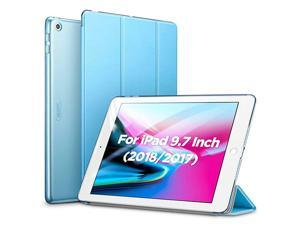 Yippee Trifold Smart Case for iPad 6th Generation 2018/2017 (Not for iPad 10.2) [Lightweight] [Multi-Angle Viewing Stand Case] [Auto Sleep/Wake] for iPad 5th/6th Gen - Light Blue