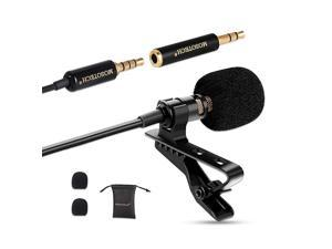 Microphone Omnidirectional Condenser MIC for Recording YouTube Interview Suitable for iPhoneAndroidWindowsCamera